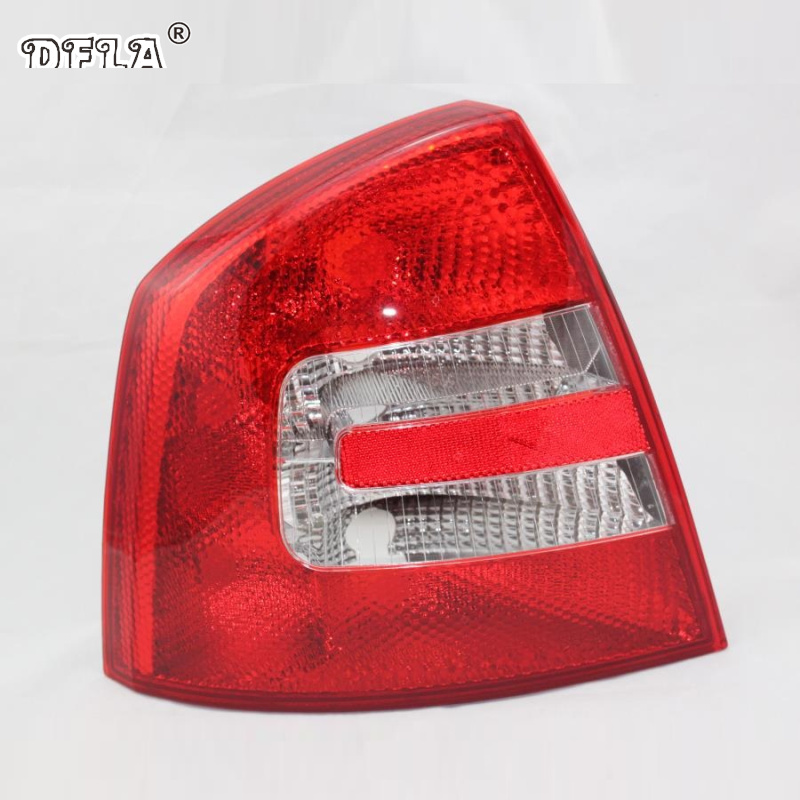 Car Light For Skoda Octavia A5 2004 2005 2006 2007 2008 Car-Styling Rear Tail Light Lamp Left Driver Side LHD real light for skoda octavia a6 rs 2009 2010 2011 2012 2013 car styling new car rear lights tail light