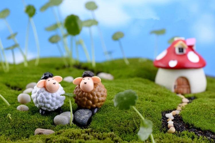 2pcs Lot Mini Cute Long Ears Sheep 2 5 3cm Cute Miniatures Micro Landscape Crafts Table Pots Ornaments Fairy Garden Decor Ks 031 Sheep Ears Pot Cutepot Decoratives Aliexpress