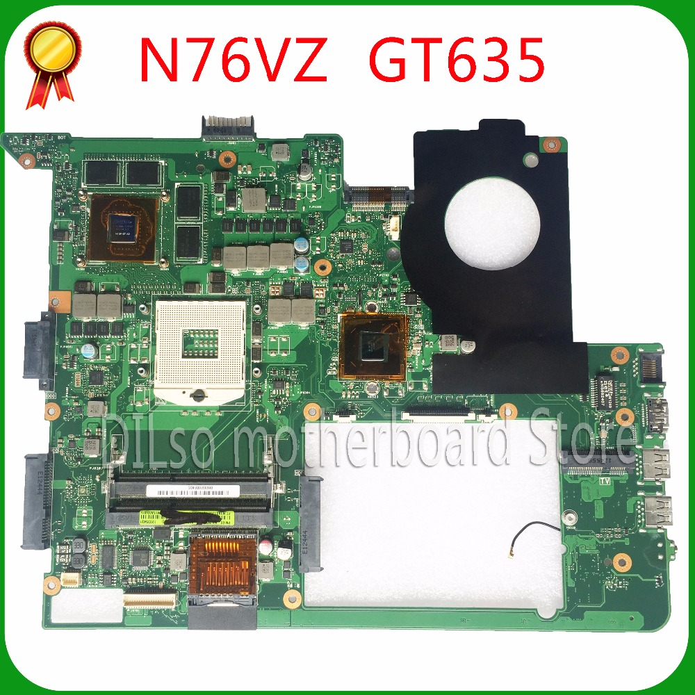 SHUOHU For ASUS N76VJ N76VZ Laptop motherboard N76V mainboard REV 2.2 GT635 Non-Integrated 100% tested freeshipping original for asus a8se laptop motherboard mainboard 100