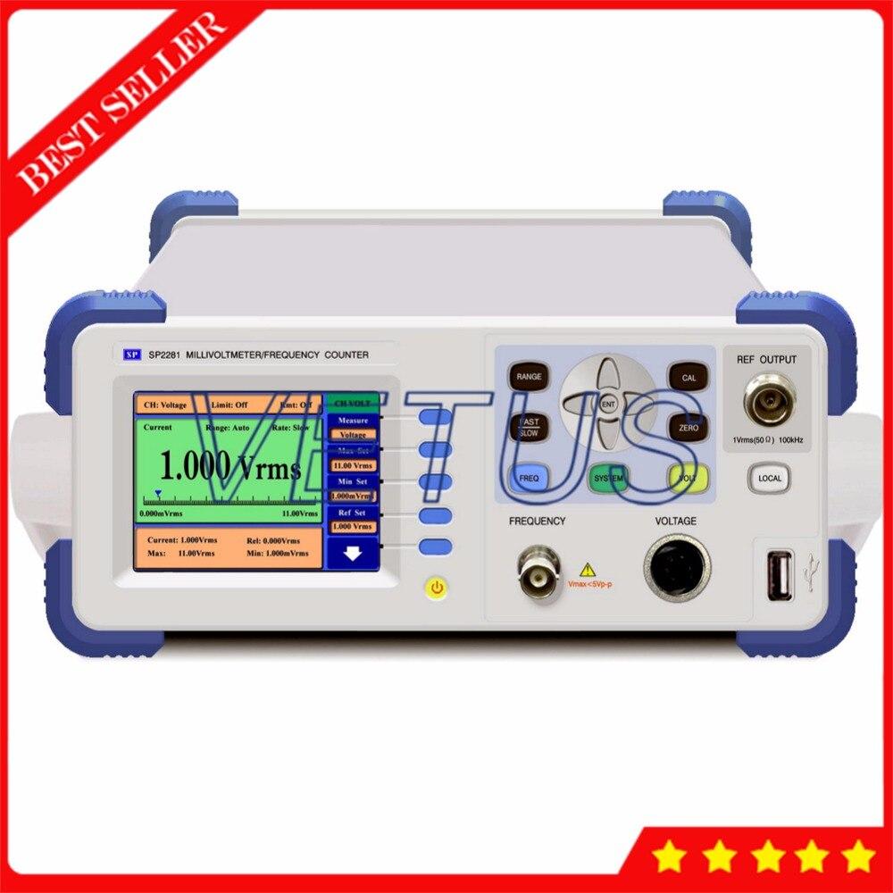 SP2281-III millivoltmètre numérique UHF avec détecteur Coaxial 3G compteur de fréquence de tension 10 kHz ~ 3000 MHz