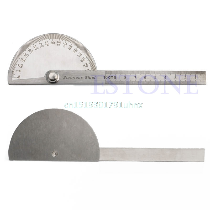 180 degree Protractor Angle Finder Arm Measuring Ruler Tool Stainless Steel