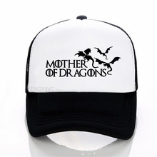 Hot 2018 Mother of Dragons baseball cap  Women Game of Thrones Ringer mesh cap summer sports trucker hat цена и фото