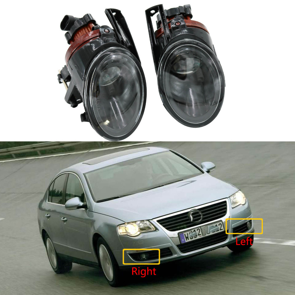 New Car Light For VW Passat B6 3C 2006 2007 2008 2009 2010 2011 Car styling Front Halogen Fog Light Fog Light With Convex Lens