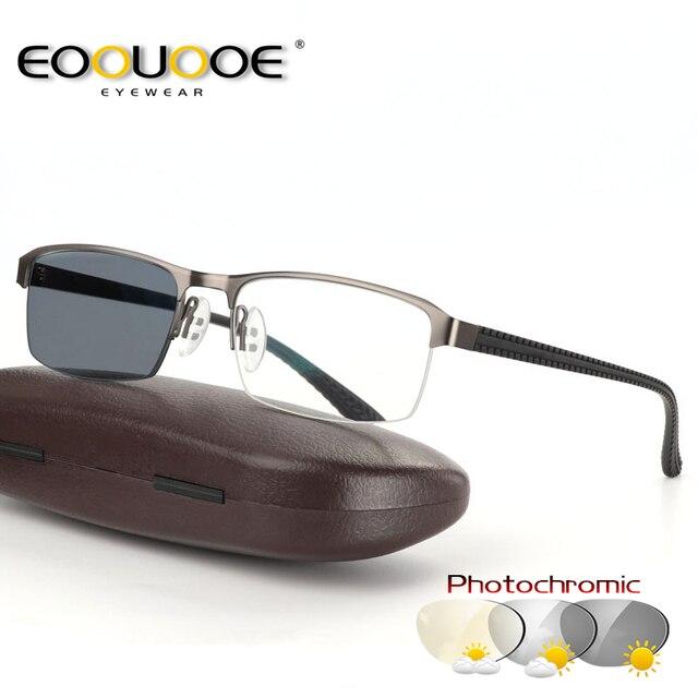 1d3106c287 EOOUOOE transición gafas de sol fotocromáticos gafas de lectura para hombres  Hyperopia presbicia con dioptrías al