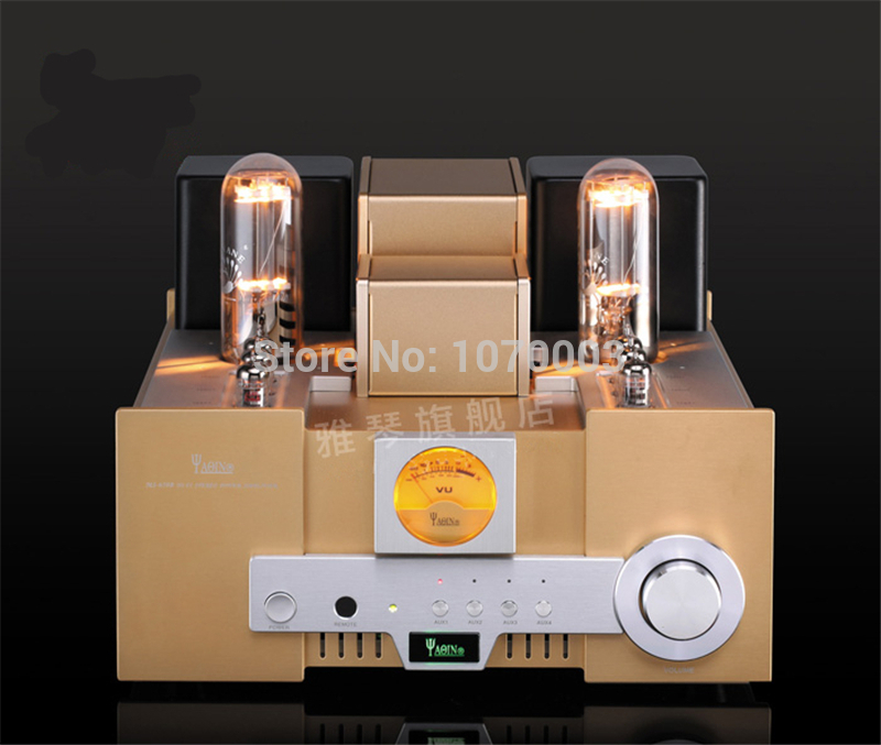 YAQIN MS-650B Integrated Vacuum Tube Amplifier SRPP Circuit 845x2 Single-ended Class A Power Amplifier 2x15W 110V/220V name machine b 108 circuit no big loop negative feedback pure post amplifier hifi fever grade high power 12 tubes