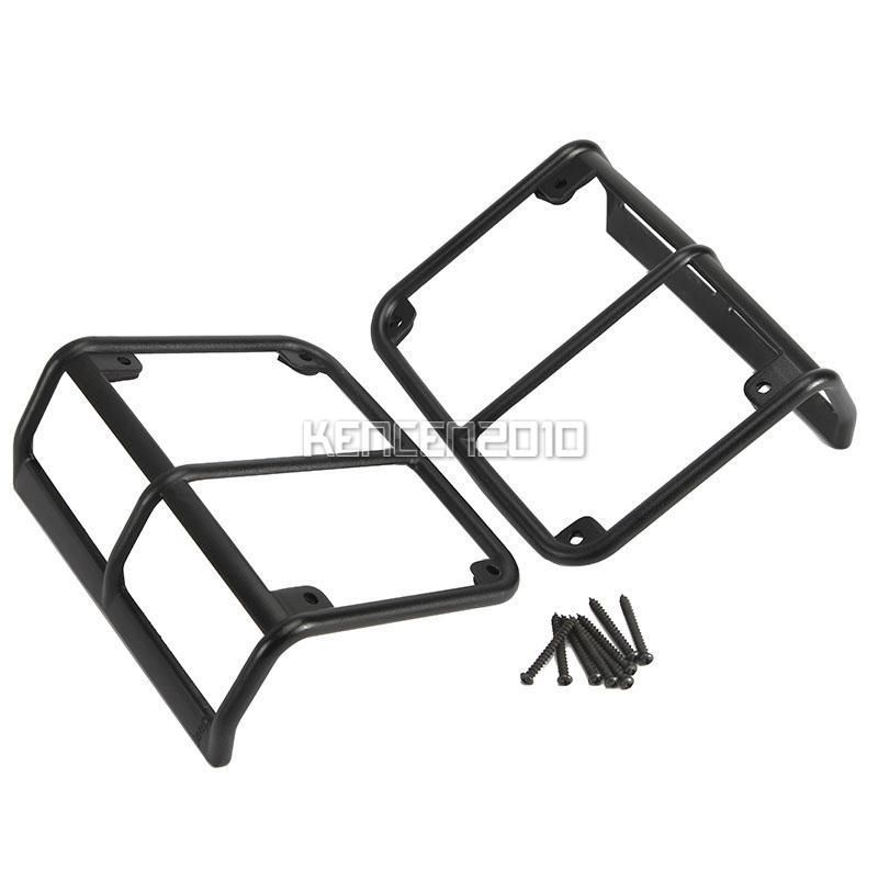2x Aluminum Tail font b Light b font Guards Covers 2007 2015 For Jeep Wrangler JK