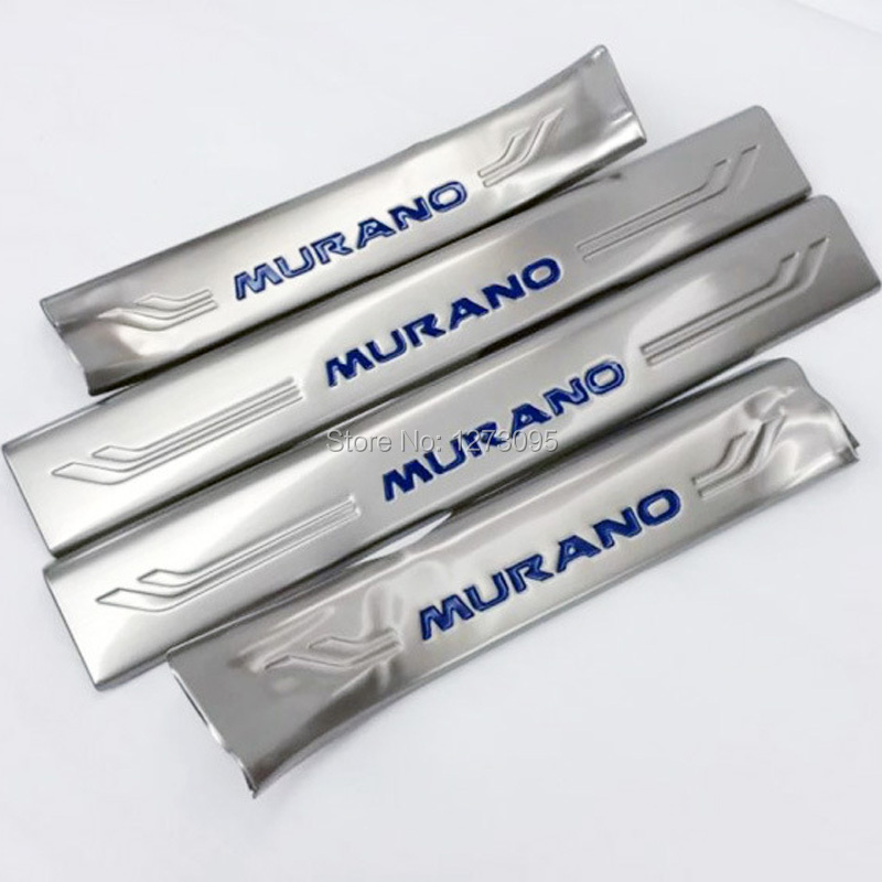 Stainless Steel Interior Scuff Plate Sill Inner Threshold Strip Welcome Pedal for 2015 2016 Nissan Murano Auto Styling Accessory stainless steel interior welcome pedal