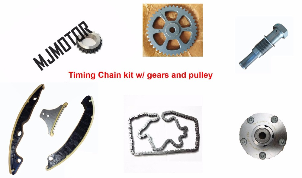 Primary Drive Timing Chain Kit w/ gears Tensioner Pulley for Chinese SAIC MG3 5 ROEWE350 1.5L autocar motor engine part 10025619