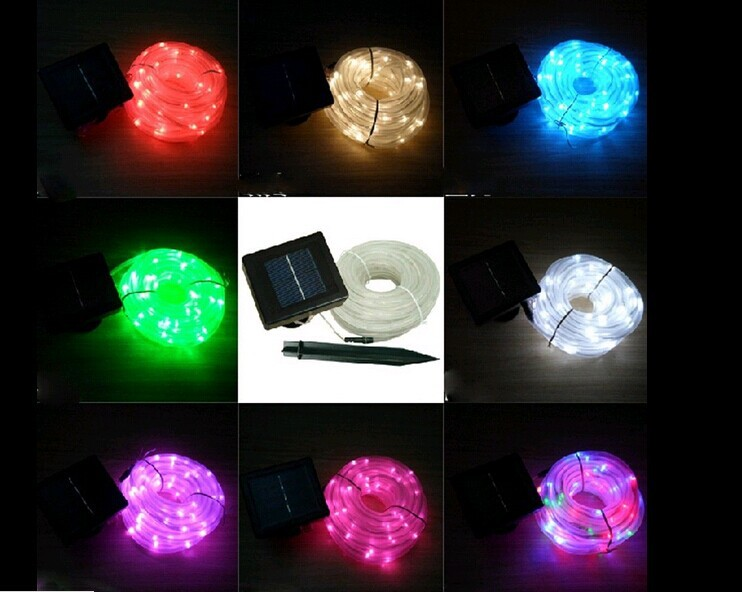 5209e65d702 Envío libre 5 M 50 LEDs tubo jardín partido impermeable energía solar led  cuerda luz Hada