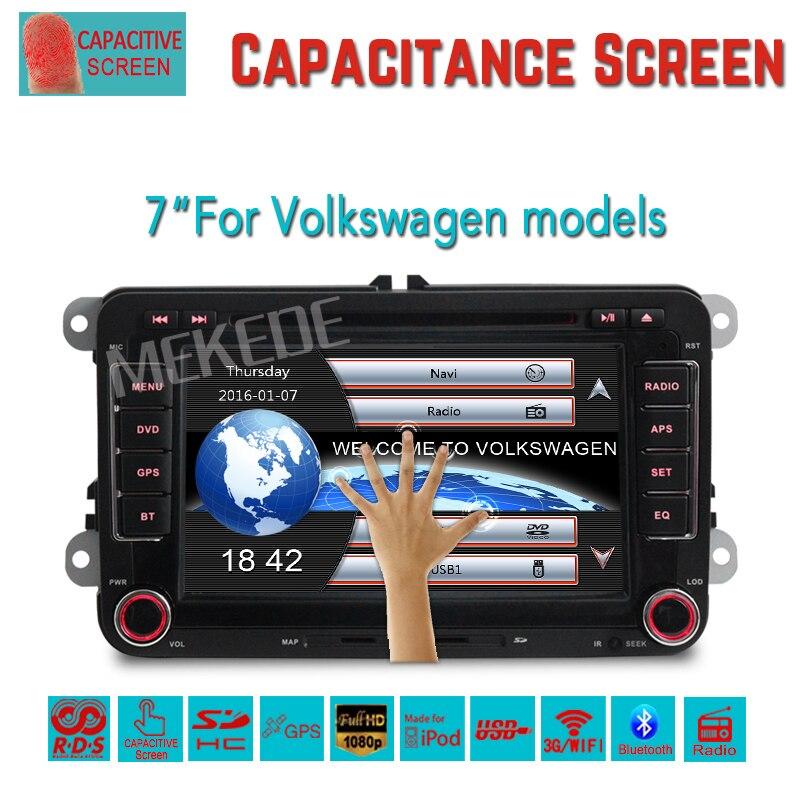 imágenes para Envío libre Coche Reproductor de navegación GPS para VW Caddy EOS Golf Jetta Passat del polo tiguan con DVD BT de radio MP3 de la ayuda 3G WIFI