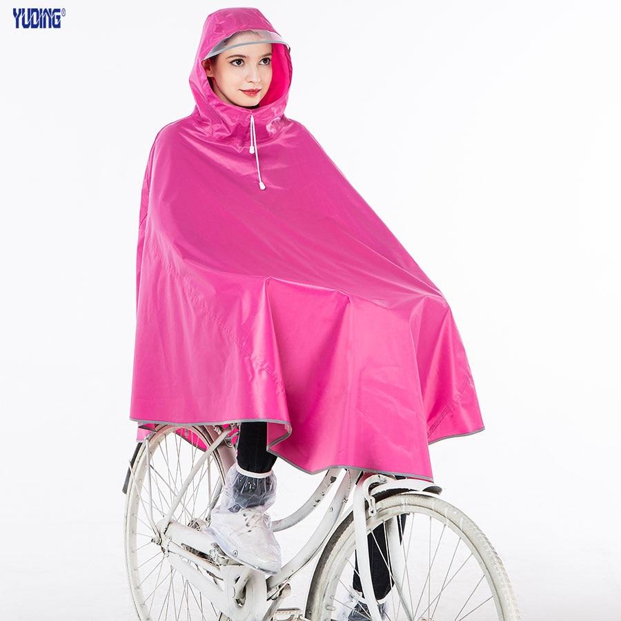 Rain Poncho Polyester Bicycle Women Thick
