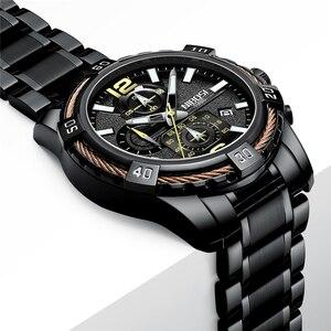 Image 4 - NIBOSI 2020 erkekler saatler üst marka lüks resmi su geçirmez erkek saat Chronograph tam çelik spor İzle erkekler Relogio Masculino