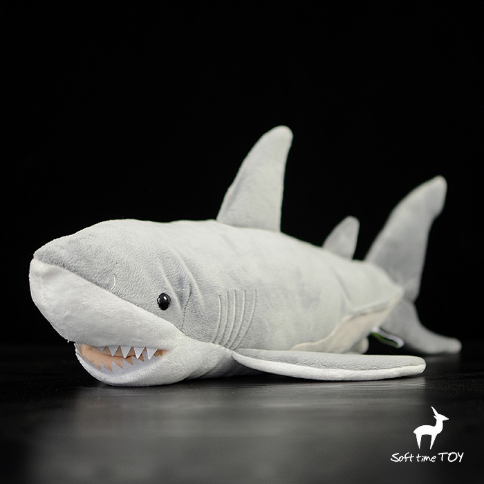 Plush Great Shark Doll Simulation Animal  Toys Children Gifts Pillow Cute Soft Big Toy stuffed animal 44 cm plush standing cow toy simulation dairy cattle doll great gift w501