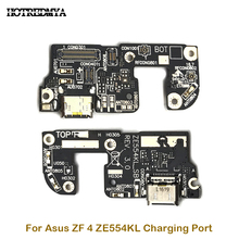 Charging Port Board For ASUS Zenfone 4 ZE554KL USB Charging Charger Port Dock Plug Connector FLex Cable Microphone Spare Parts стоимость