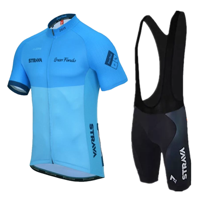 New team strava cycling jersey bike shorts set Ropa Ciclismo quick dry mens pro  cycling wear 41212c9b5