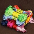 20 м/лот мягкий атласный шелковый шнур для макраме с погремушками, многоцветный 2 мм нейлоновый шнур для бисероплетения Шамбала, для изготовл...