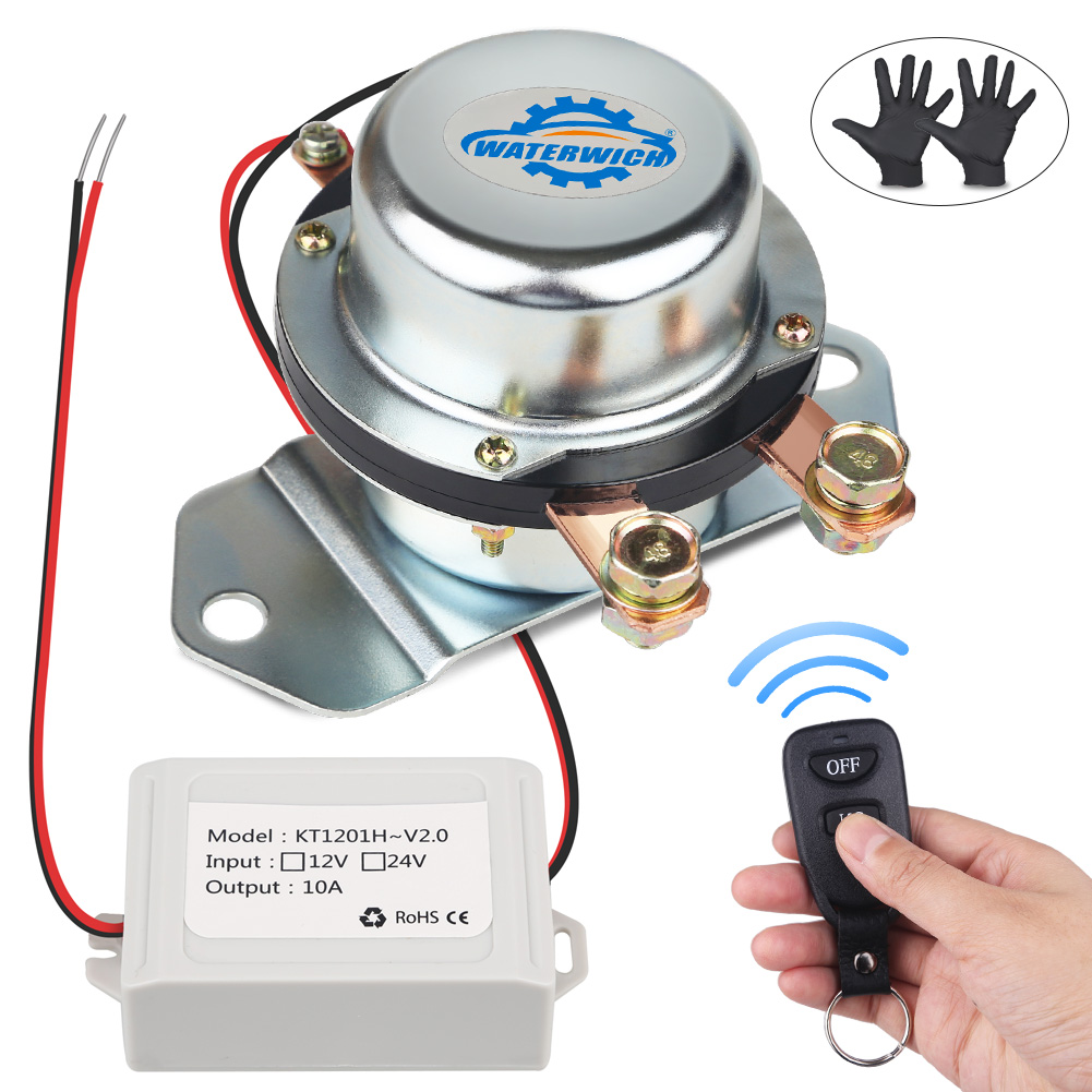 Batterie de voiture 12 v 24 v interrupteur de coupure de courant batterie électromagnétique interrupteurs principaux véhicule automatique avec télécommande