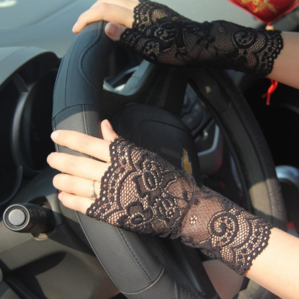 Women Sexy Fingerless Lace Driving Sunscreen UV Protection Party Gloves Vintage Trendy Luxury Romantic Gift For Women