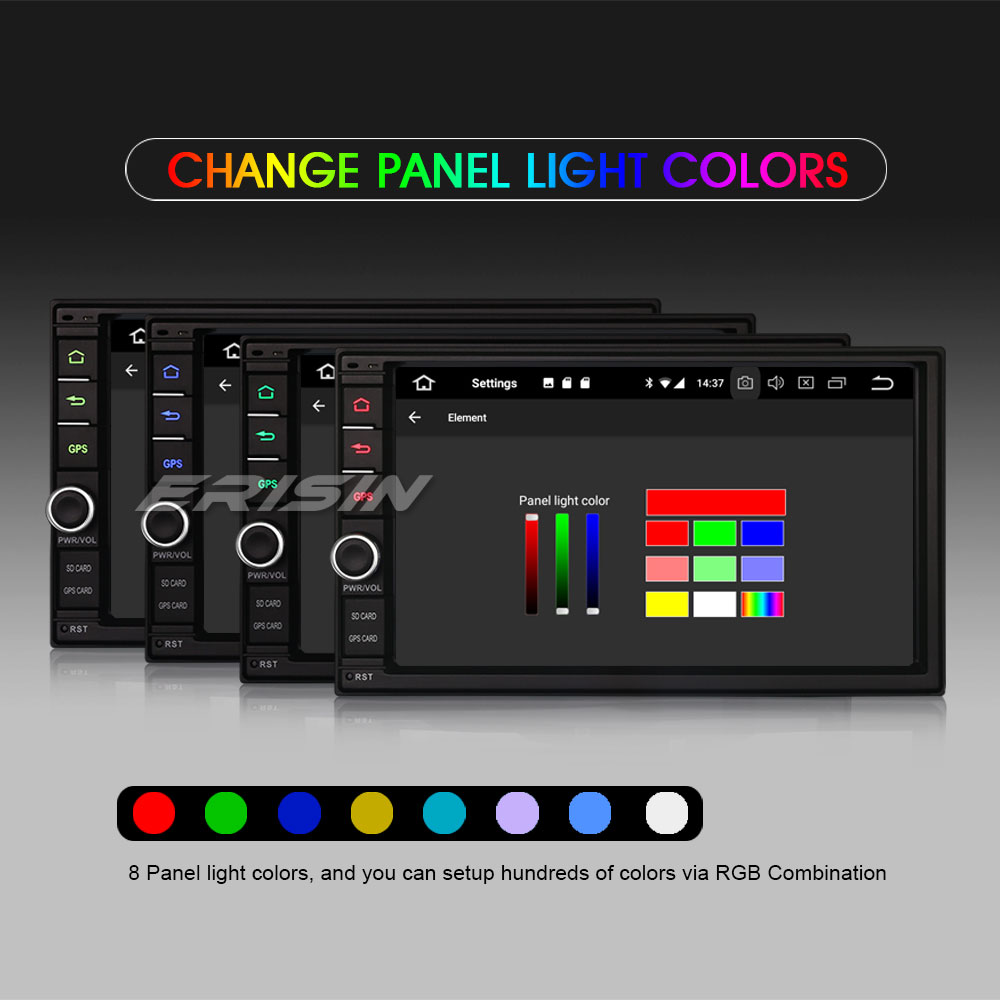 Color changing car stereo user manuals array erisin es6841u 7 hd 2 din android 8 0 car stereo system rds obd fandeluxe Images