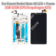 For Xiaomi Redmi Note 4X LCD Display Screen Touch Screen digitizer assembly with Frame Note 4X 5.5 inch Replacement Repair Parts