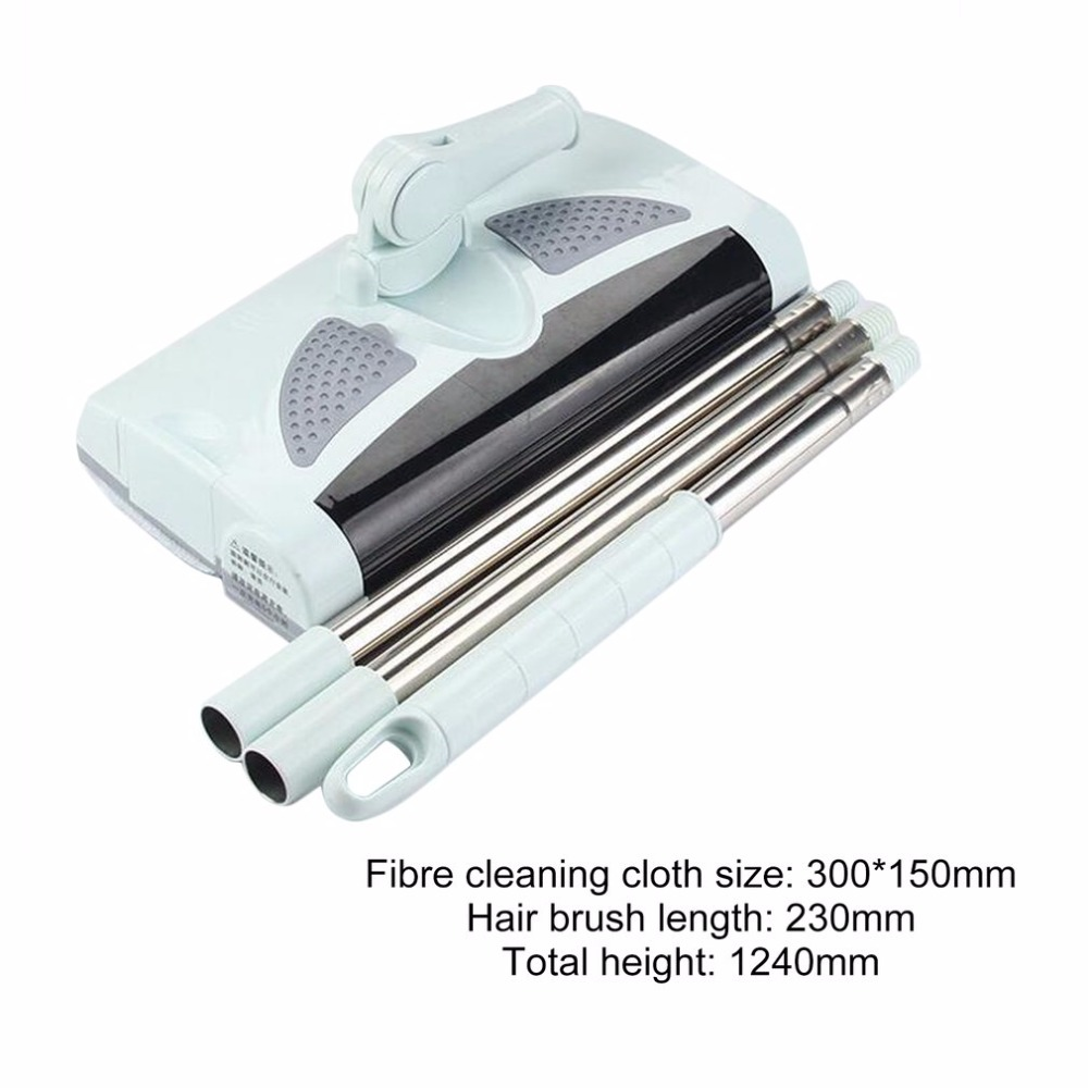 Household Automatic Electric Sweeping Machine Wireless Hand Push Dustpan Vacuum Cleaner Machine Low Noise Sweeper US EU Plug new stick 360 degree low noise vacuum cleaner battery