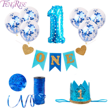 FENGRISE First Birthday Boy Girl 1 Year Banner Party Decor Balloons 1st Decorations Kids Favors