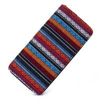 Sansarya 2017 Tribal Jacquard Woven Rhombus Long Women Wallet Boho Ladies Card Holder Aztec Female Purse