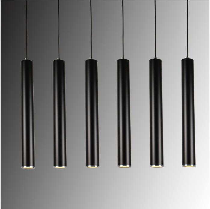 Creative Art Decor Led Pendant Lamp Bar Cylinder Pipe
