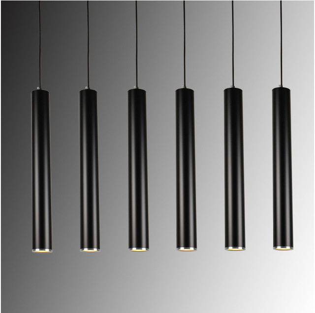 Creative Art Decor Led Pendant Lamp Bar Cylinder Pipe