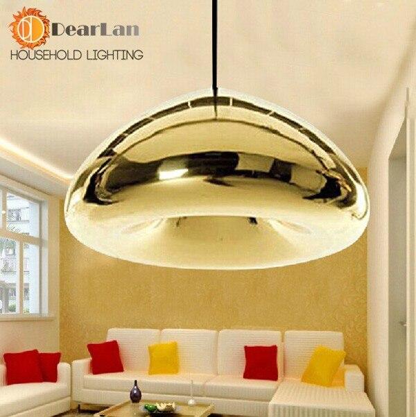 Латунный бант золотистого стекла подвесные лампы современные стеклянные покрытые подвесные светильники фойе лампа Лофт серебро медь столовая подвесные светильники