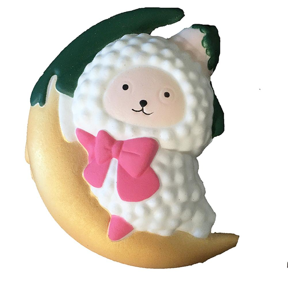 #5001 Cartoon Moon Sheep Stress Reliever Soft Yogurt Scented Slow Rising Toys Dropshipping New Arrival Freeshipping Hot Sales Stress Relief Toy