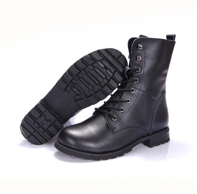 2016 Inverno Botas de Couro Da Motocicleta Dos Homens À Prova D' Água Exército Botas Mens Botas Militares Martin Botas Revit Fivela Chaussures L101016