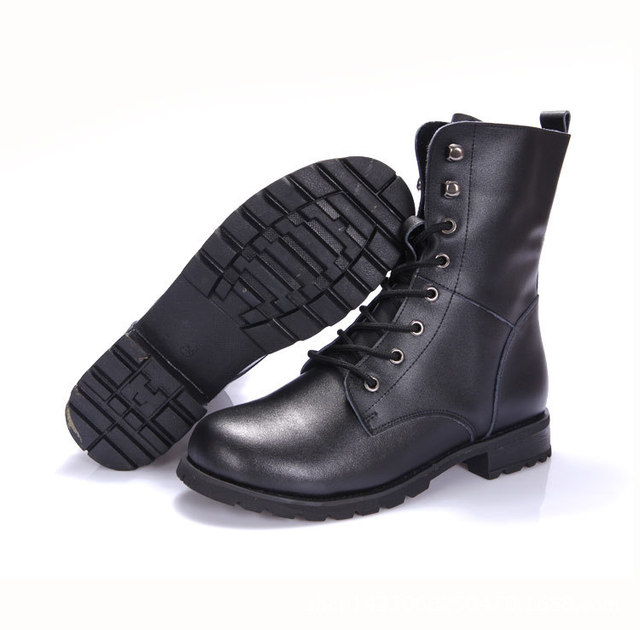 2016 Winter Motorcycle Boots Leather Men Waterproof Army Boots Mens Military Boots Martin Boots Revit Buckle Chaussures L101016