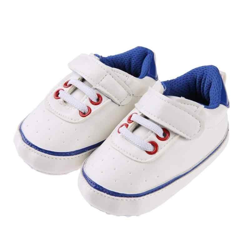 Детская обувь из искусственной кожи для мальчиков и девочек Prewalkers против скольжения для малышей новорожденных Повседневное сначала ходунки обувь Кроссовки Золото/зеленый /синий/черный