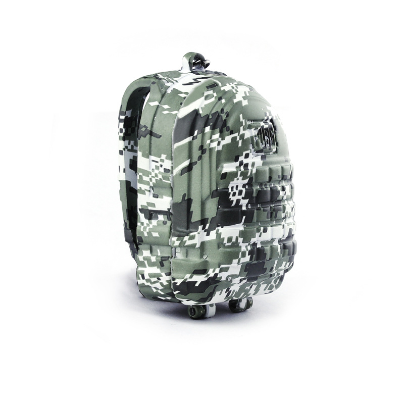 STG Game Playerunknowns Battlegrounds Level 3 backpack Model zinc alloy Pendant Necklace PUBG Logo camouflage Keychain