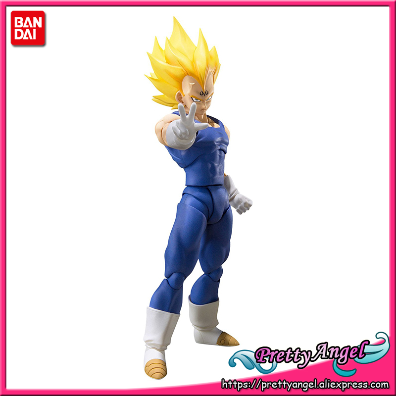 PrettyAngel - Genuine Bandai Tamashii Nations S.H. Figuarts Exclusive Dragon Ball Z Majin Vegeta Action Figure sale 100% original bandai tamashii nations s h figuarts shf action figure vegeta premium color edition from dragon ball z