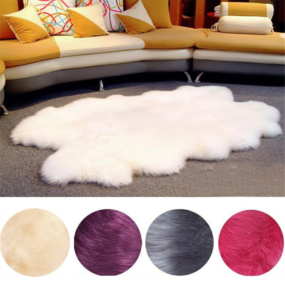 Washable Sheepskin Rugs For Dogs: Enipate Super Large Washable Sheepskin Fur Wool Carpets