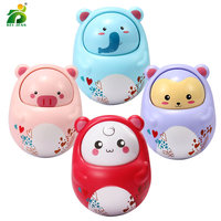 Baby rattle animal nodding tumbler rattle toy Roly cute early education BEI JESS musical toys