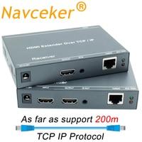 2019 ZY DT209 RJ45 HDMI Extender IP Over UTP/STP CAT5 CAT5e CAT6 Extensor HDMI With IR LAN Network 200m HDMI Extender Ethernet
