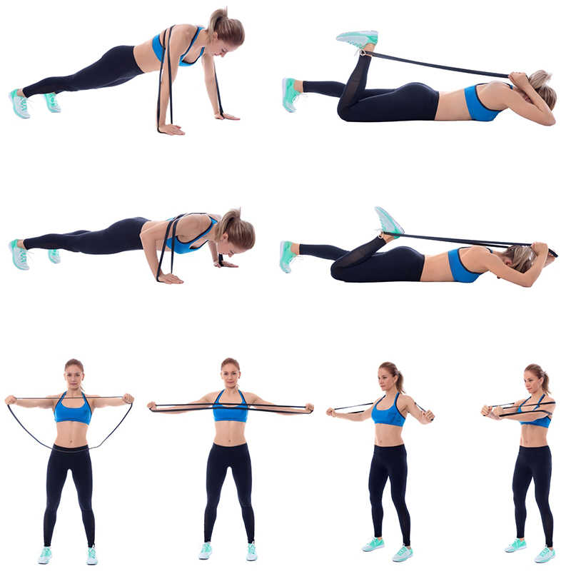 Fitness Pull Rope Resistance Bands Crossfit Sport Workout Pull Up Band Gym Exercise Strength Training Rubber Bands Bodybuilding