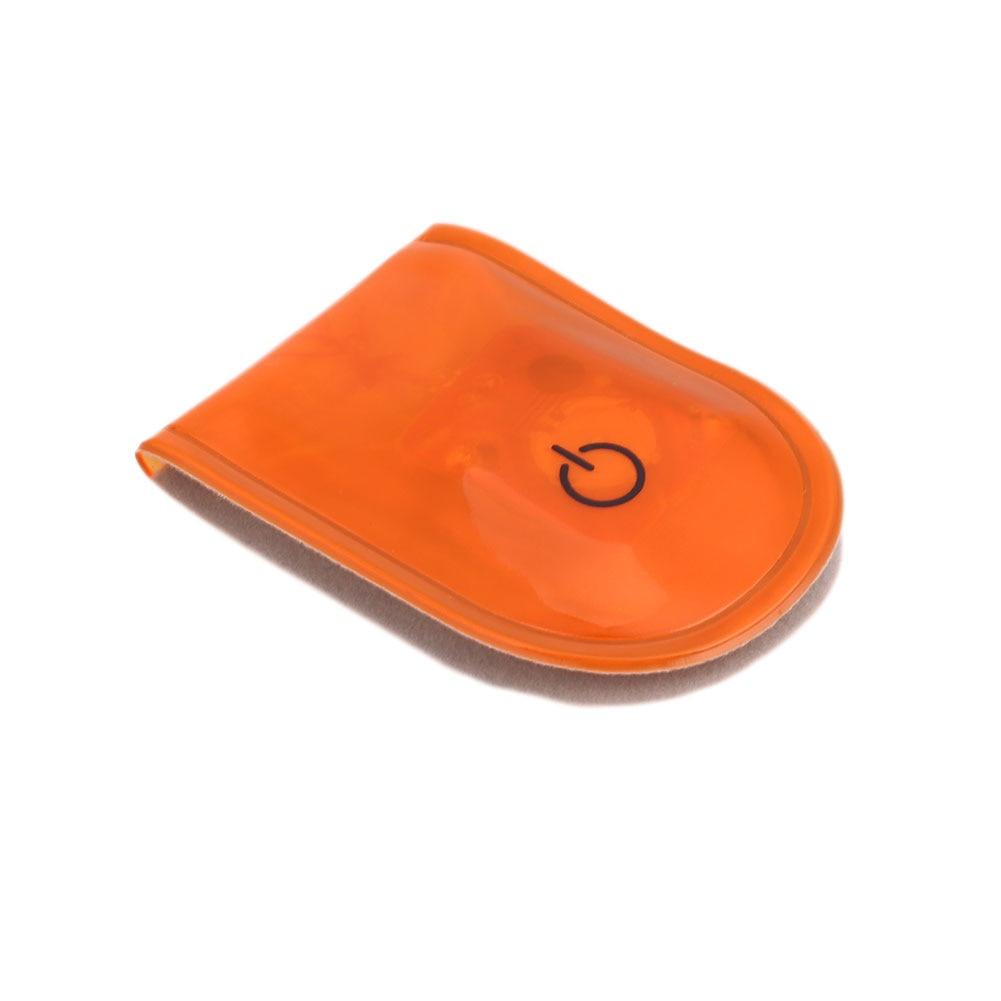 1 шт. велосипедный светильник s сигнальная лампа беговой светильник s светодиодный светильник магнитный зажим Магнит Прочный стробоскоп светильник на открытом воздухе спортивный привлекательный - Цвет: Orange
