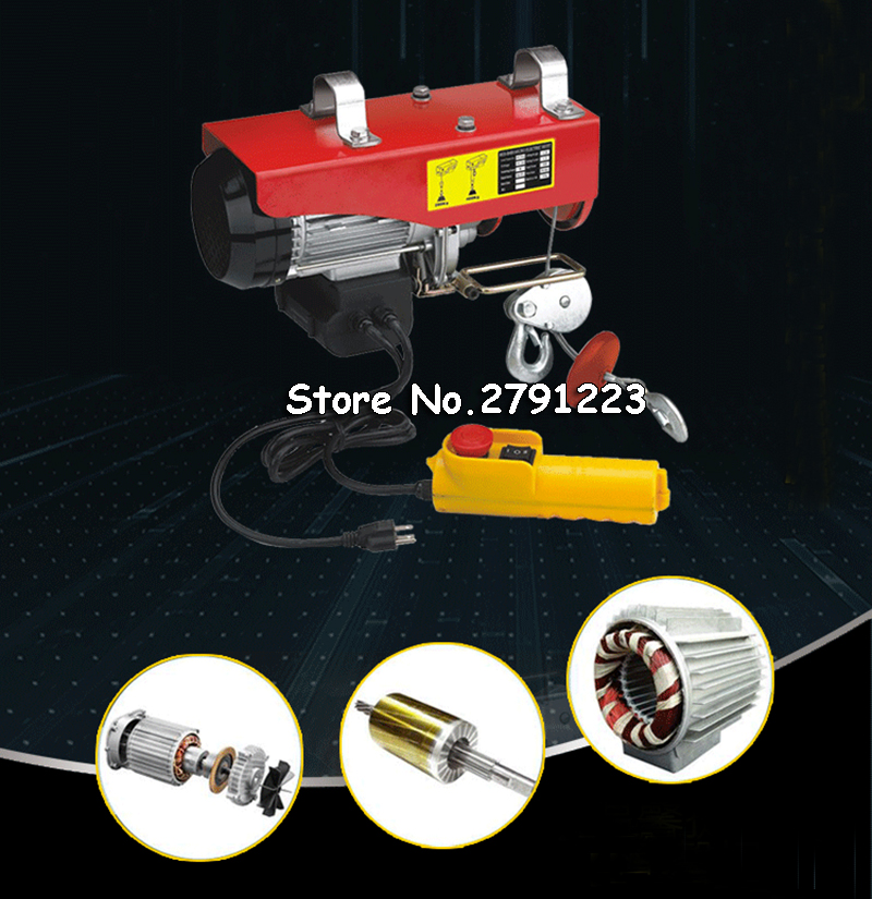 Lifting Tools & Accessories New 880lbs Mini Electric Hoist Crane Overhead Garage Winch Remote Control Auto Lift