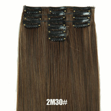 24inch Straight Clip in Hair Extensions Natural Hair pieces Synthetic Hairpieces Artificial Hair Extention De Pelo Natural Hair