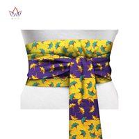 BRW 2017 African Print Obi Ankara Green Yellow Peplum Belt Button Skirts For Women Gift Handmade