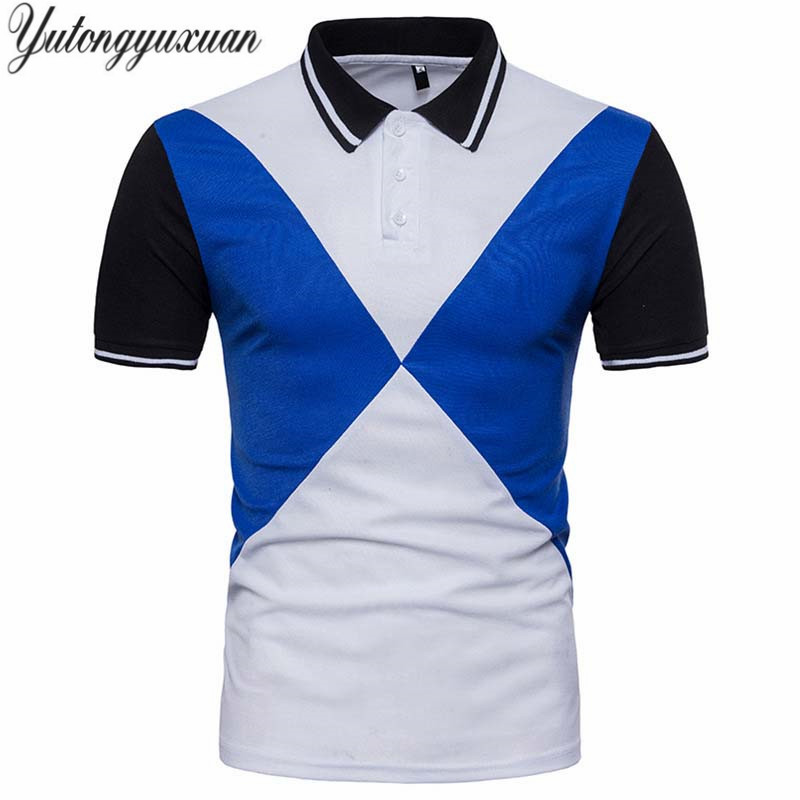 Shirt Xxl Size Europe Para Contrast Color Slim Men Fit Polo thdCxsrBQ