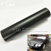 1.52x30m/Roll Matt Matte Black Car Auto Body Sticker Decal Self Adhesive Wrapping Vinyl Wrap Sheet Film