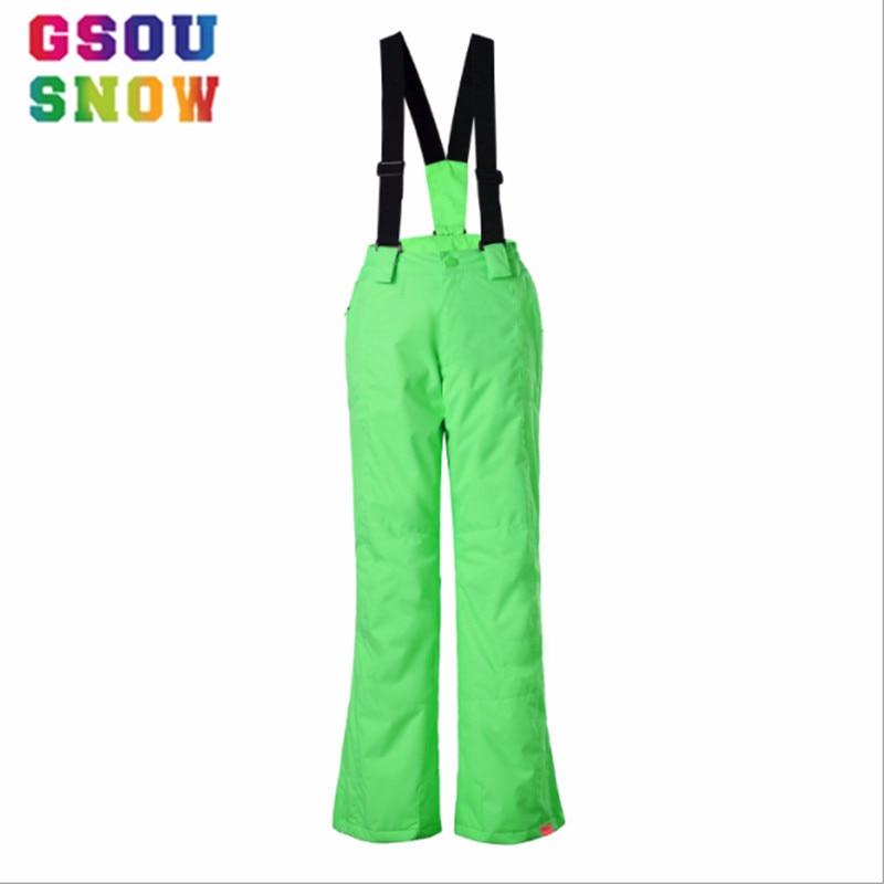 Gsou Snow Winter Ski For Boys and Girls Kids Waterproof Warm Snowboarding Ski Pants Snowboard Outdoor Wear Windproof
