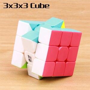 Image 3 - QIYI cube magique warrior 3x3x3 vitesses, cube puzzle professionnel sans autocollants, jouets éducatifs lisses, 4x4x4x5x5