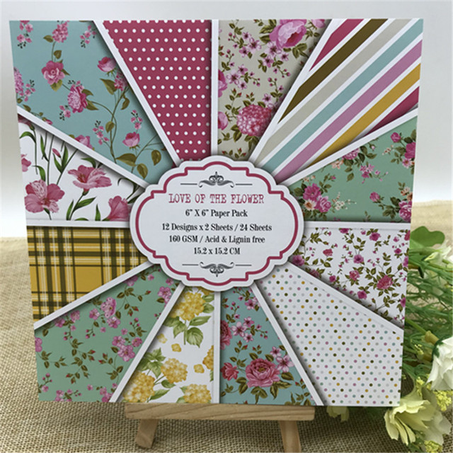 Us 3 59 24 Sheets Love For The Flower Scrapbooking Pads Paper Origami Art Background Paper Card Making Diy Paper Craft In Craft Paper From Home
