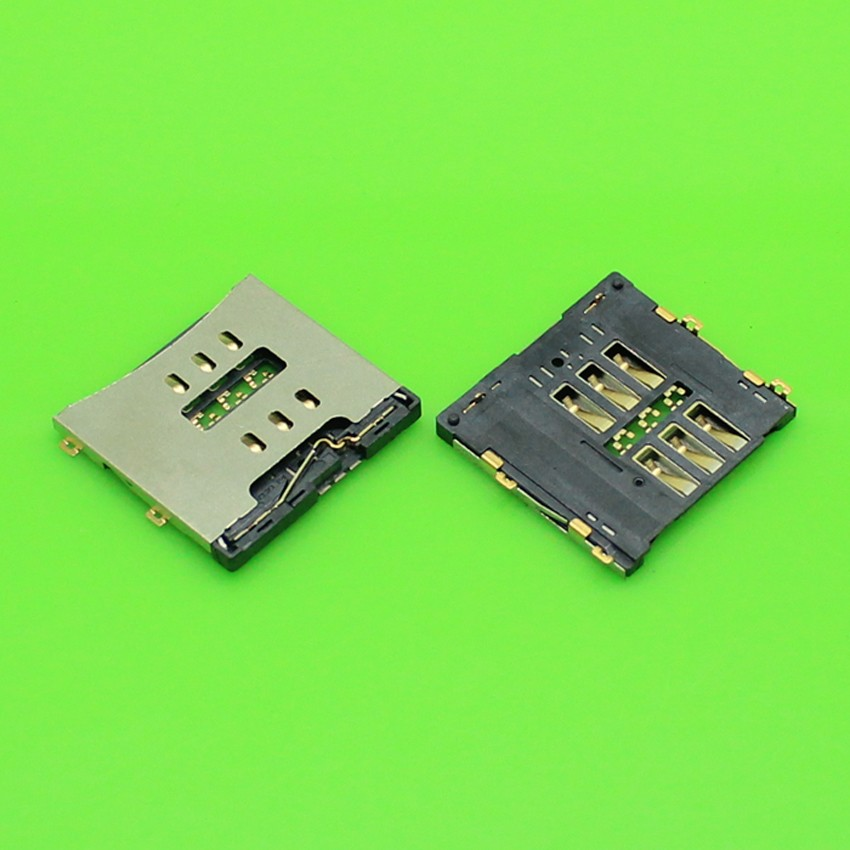 50pcs/lot Sim Card Connector Reader Tray Socket for iPhone 4 4g 4S 4GS